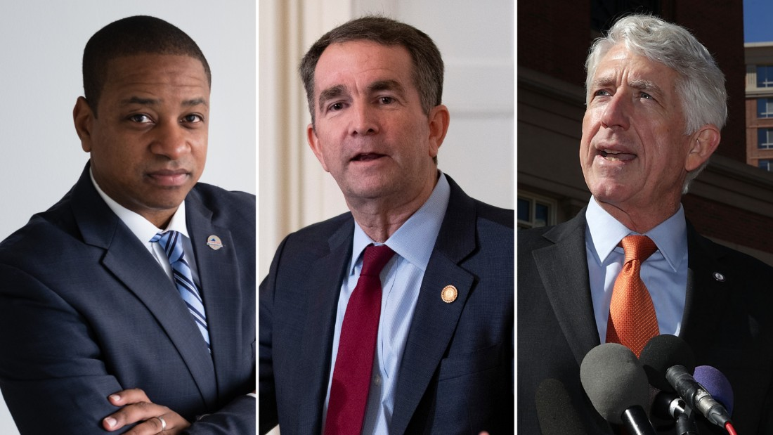 Justin Fairfax, Ralph Northam and Mark Herring