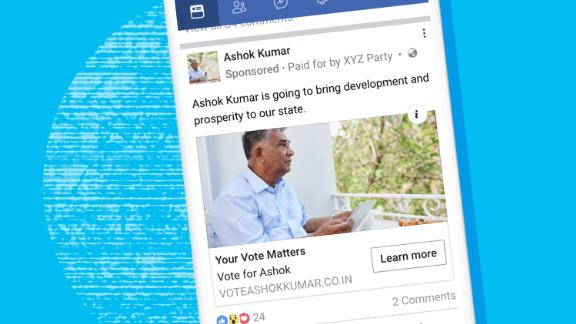 Facebook is now showing users in India when ads are paid for by a politician or political party.