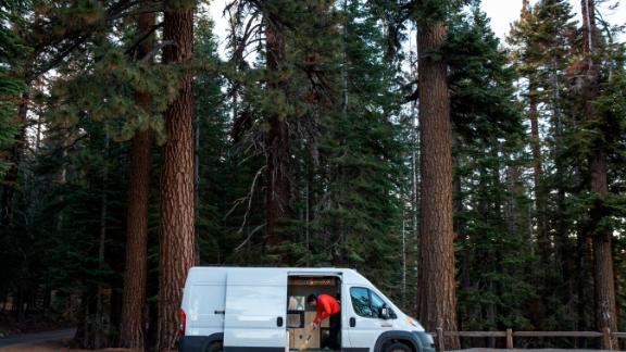 Honnold lives and travels in a small van for much of the year.