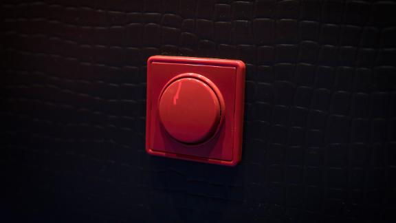 A panic button in a room at My Red Light brothel.