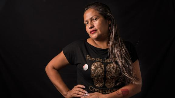 """Fany Lilian Torrez Rodriguez, 37, of Nicaragua has been a sex worker for 18 years. She says the job has given her good money and is """"the best work I could have done."""""""