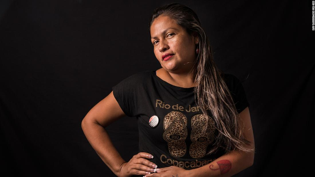 "Fany Lilian Torrez Rodriguez, 37, of Nicaragua has been a sex worker for 18 years. She says the job has given her good money and is ""the best work I could have done.""<br />"