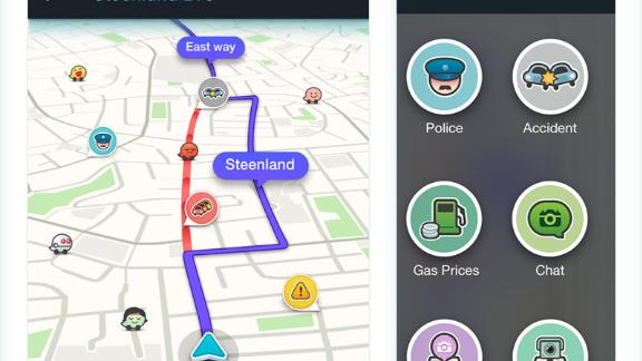 A screenshot of the Waze application.