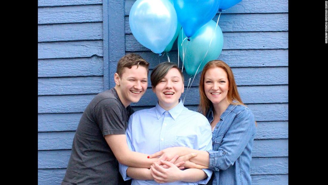 A mom held a heartwarming gender reveal party for her transgender son