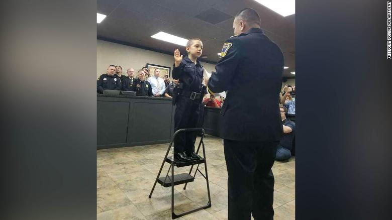 Abigail Arias — that's Officer Arias 758 to you — was sworn in by Freetown Police Chief Raymond Garivey in February.