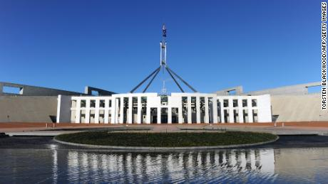 Australia's Parliament House in Canberra was targeted by an unknown hacker on Thursday night, a spokesman said.