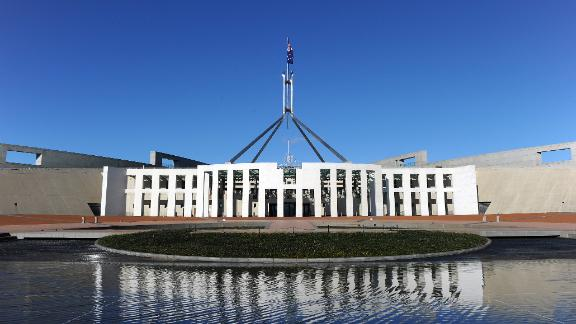 Australia's Parliament House in Canberra on September 7, 2010.