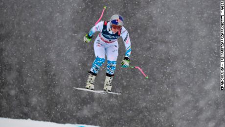 Vonn finished eighth in the downhill run of the Alpine combined in Are.