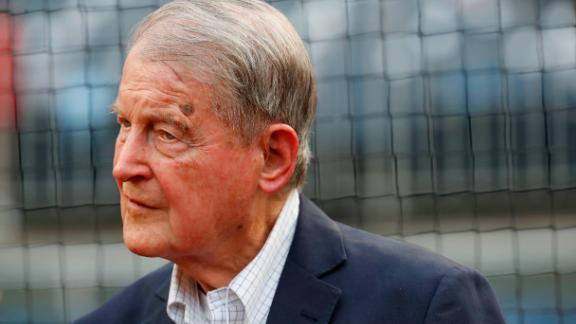 Judge William Webster, former FBI and CIA director, at Nationals Park on August 7, 2018 in Washington, DC. (Photo by Patrick McDermott/Getty Images)