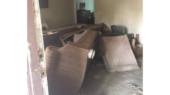 Elaine Maxwell's home after damage left by Hurricane Harvey.