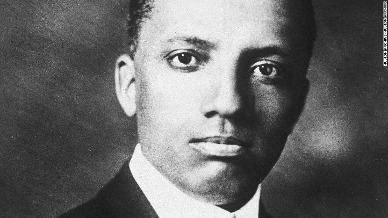 American historian and educator Carter Godwin Woodson (1875-1950) is pictured in this image from the 1910s.