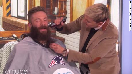 Super Bowl Mvp Shaves Beard On Ellen