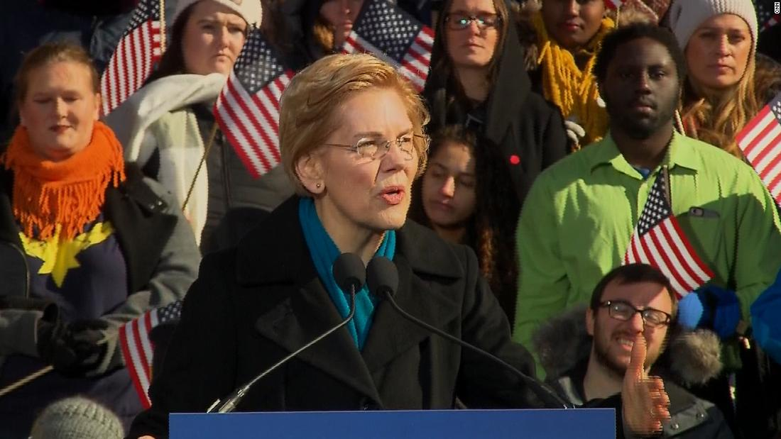 Elizabeth Warren wants 2020 rivals to name big donors with influential campaign positions