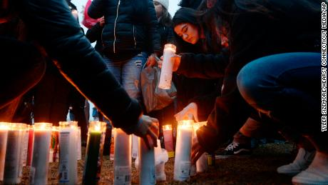 Friends and The family gathered in a park in New Rochelle on Thursday for a candlelit vigil in honor of Reyes.
