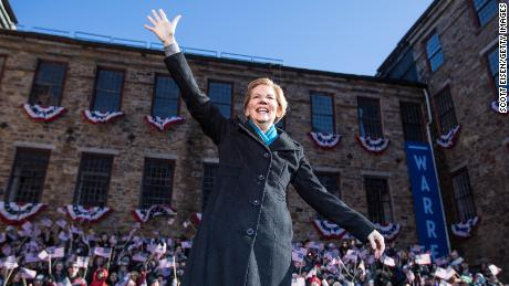 Sen. Elizabeth Warren announces her official bid for President on February 9, 2019, in Lawrence, Massachusetts. (Photo by Scott Eisen/Getty Images)