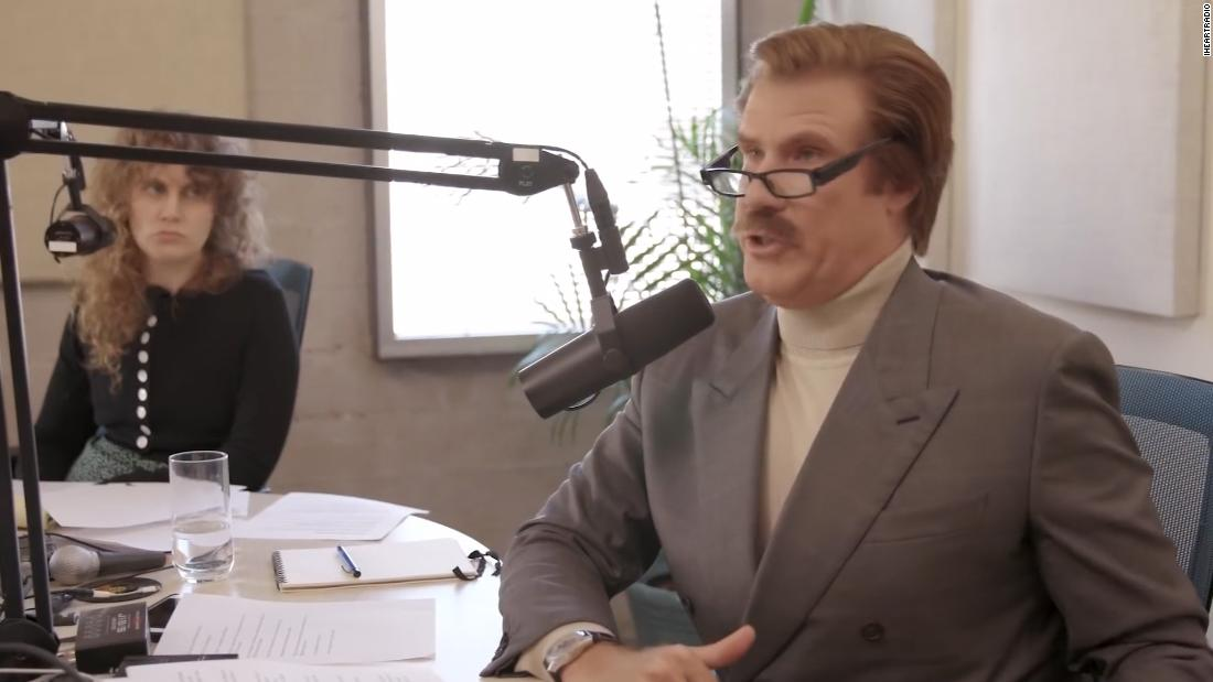 Hear a clip from Ron Burgundy's new podcast