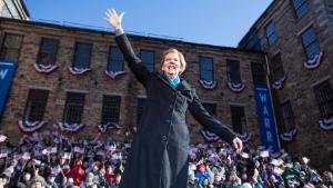 Sen. Elizabeth Warren (D-MA), announces her official bid for President onFebruary9, 2019 in Lawrence, Massachusetts. Warren announced today that she was launching her 2020 presidential campaign.