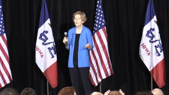 NS Slug: IA: WARREN: TRUMP MAY NOT BE FREE PERSON IN 2020  Synopsis: Warren: By the time we get to 2020, Donald Trump may not even be President.  Keywords: IOWA POLITICS US 2020