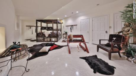 It also features a basement that might appeal to fans of a certain trilogy of books and movies.