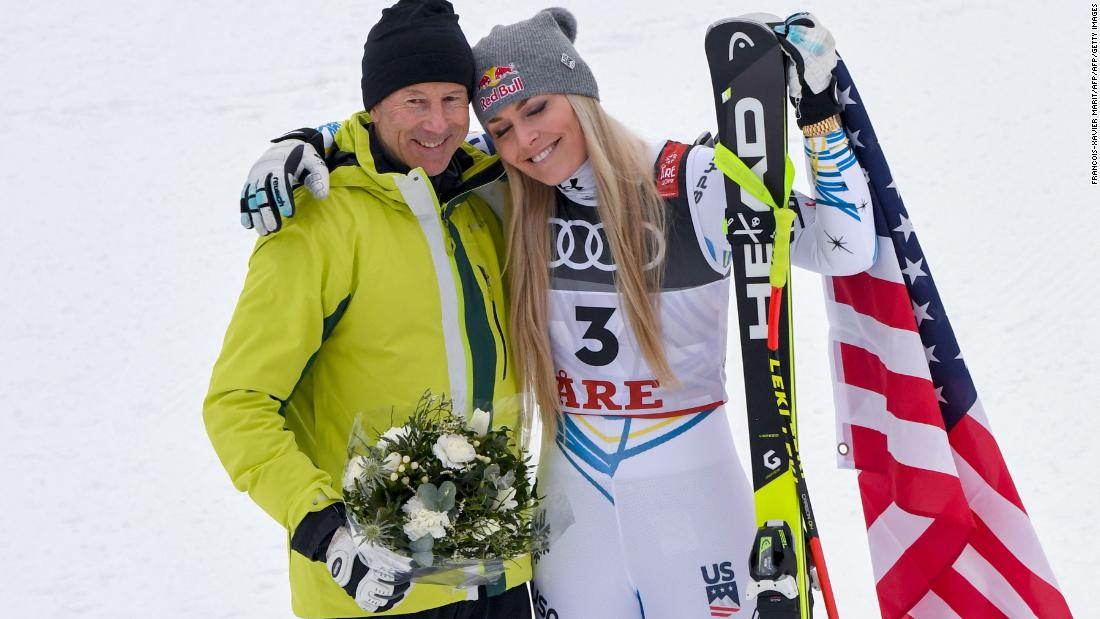 "The American retired four wins short of equaling Stenmark's record of 86 World Cup wins and the Swedish great (left) was in Are to watch Vonn's final race. ""I basically begged him to come here,"" Vonn said."