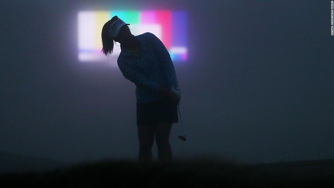 "A golfer warms up in heavy fog on the first day of the Handa Vic Open in Geelong, Australia, on Thursday, February 7. <a href=""http://www.cnn.com/2019/02/04/sport/gallery/what-a-shot-sports-0204/index.html"" target=""_blank"">See 33 amazing sports photos from last week</a>"
