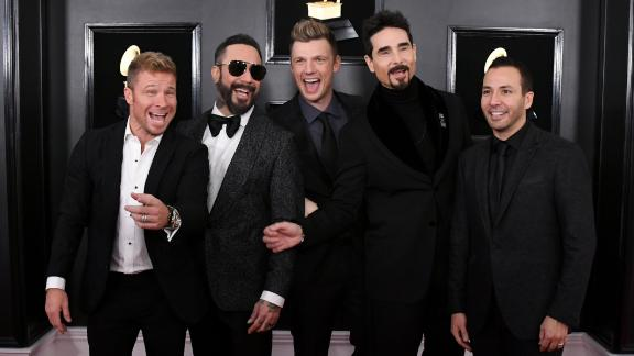The Backstreet Boys at the Grammys in February