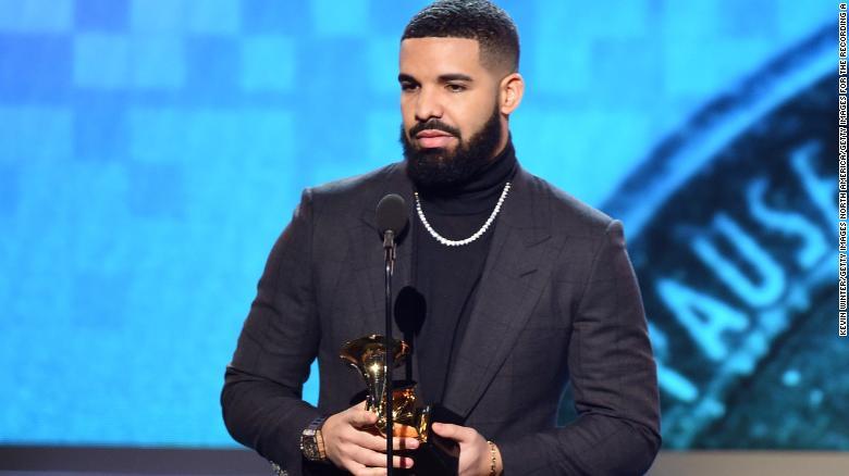 Drake gets cut off during Grammy acceptance speech