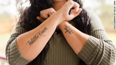 a47742286ad41 Billie Jean Poteet, 34, has completed three arm tattoos in the past year  ""