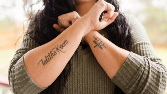 """Billie Jean Poteet, 34, has completed three arm tattoos in the past year """"as a step in my road to recovery from sexual assault,"""" she wrote in an email. She was repeatedly sexually assaulted as a child, she said, but her """"issues came to a head"""" only recently.<br /><br />She said she is in a much healthier place now, both mentally and physically. """"I know a great deal of that healing came from my tattoos and the healing they brought me.""""<br /><br />Poteet is not ashamed of what happened to her. She shared her story because she believes that """"the need for anonymity only furthers the cycle of shaming survivors."""""""