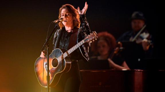 Brandi Carlile performs onstage during the 61st Annual GRAMMY Awards on February 10 in Los Angeles.