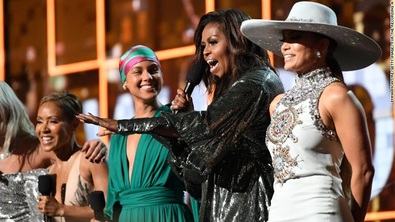 Image result for michelle obama on the grammys