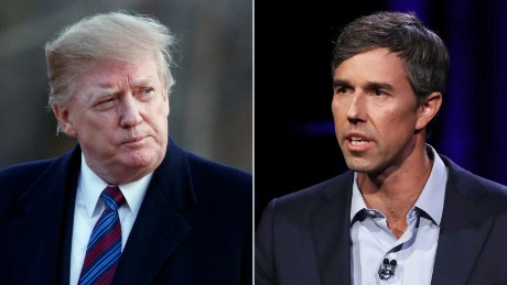 Beto O'Rourke clashes with Trump over border wall in dueling events