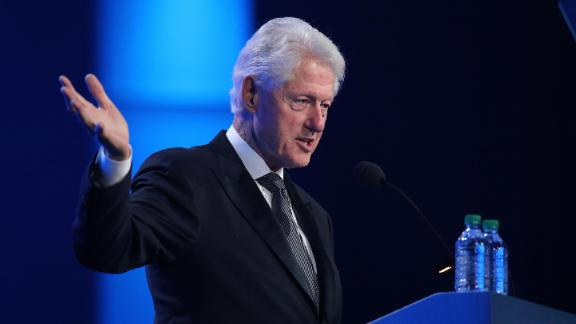 A file photo of Former US President Bill Clinton delivering a speech on July 15, 2018.