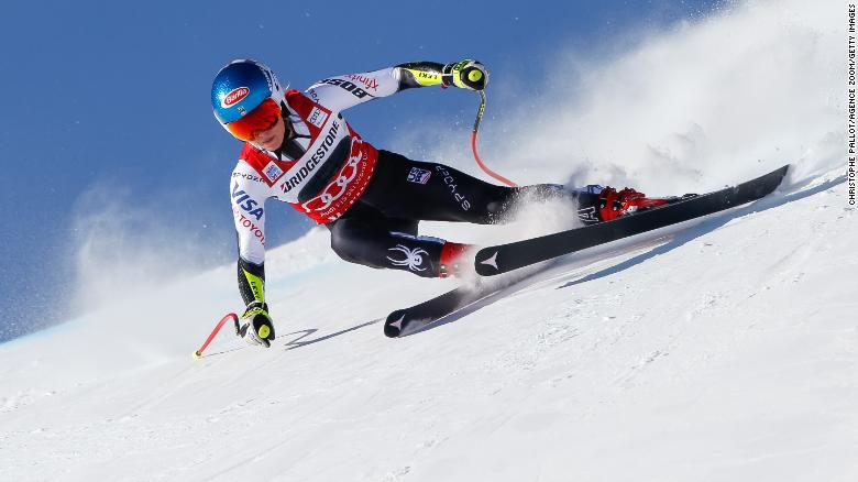 Mikaela Shiffrin stormed to victory in the women's super-G at St Moritz in December on the way to her overall crown.