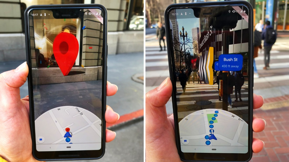 A new Google Maps feature that Google is testing with a small group of users mixes virtual navigation cues with the real world.