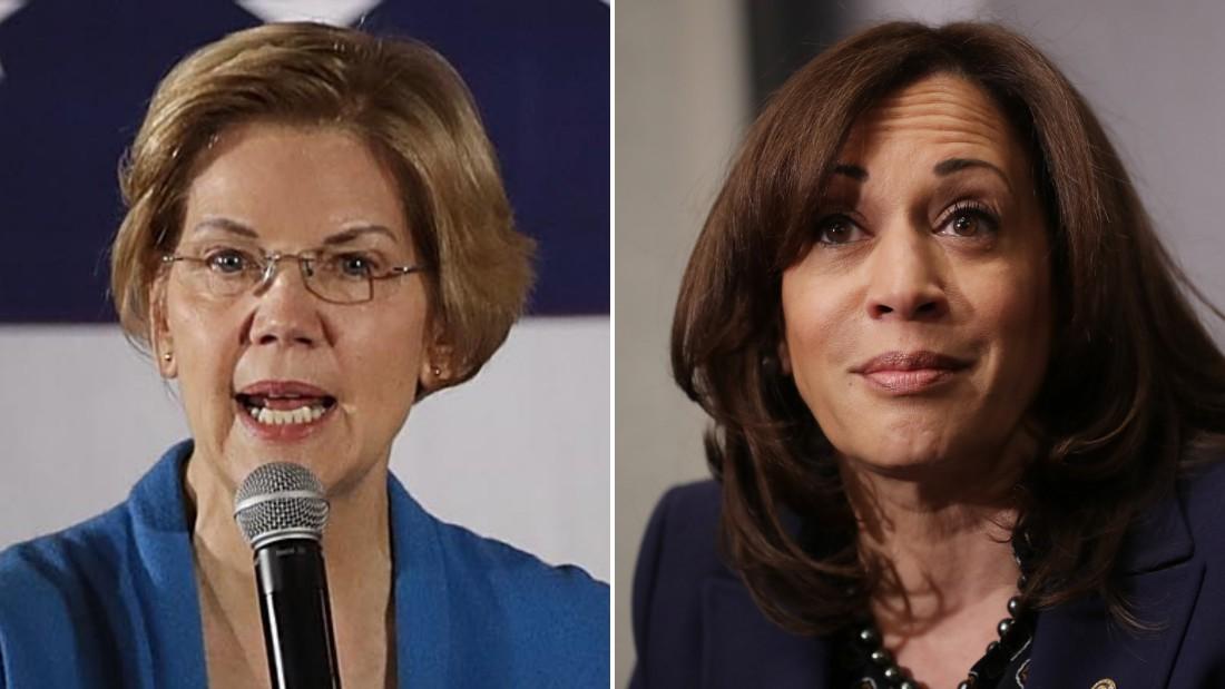 Elizabeth Warren and Kamala Harris