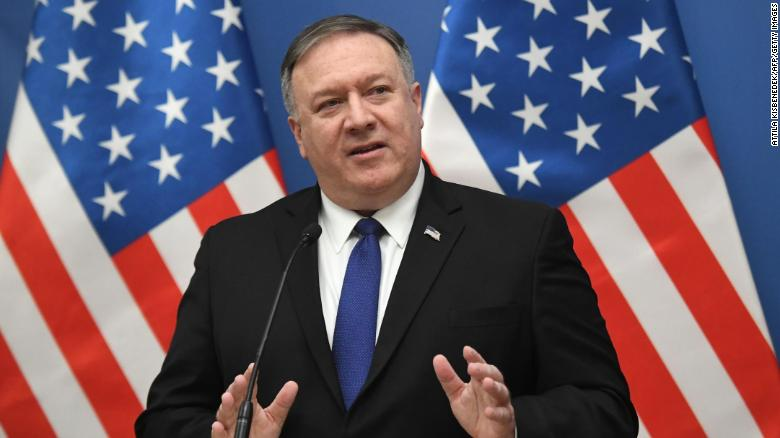 Image result for mike pompeo addressing