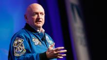 NEW YORK, NY - NOVEMBER 02:  Captain Mark Kelly speaks on stage at LocationWorld 2016 Day 1 at The Conrad on November 2, 2016 in New York City.  (Photo by Brian Ach/Getty Images for LocationWorld 2016)