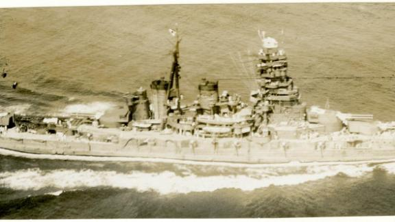 The 31,000-ton Hiei was half the size of the largest Japanese battleships, Musashi and Yamato.