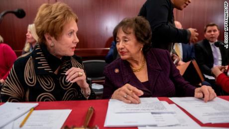 Kay Granger, left, with Nita Lowey