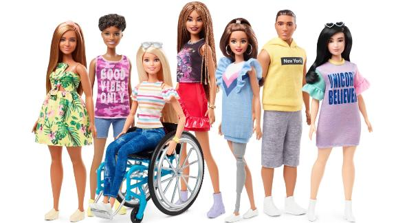 Barbie is introducing dolls with wheelchairs and prosthetic limbs in its newest Fashionistas line, which aims to offer kids more diverse representations of beauty. Mattel is marking the 60th birthday of the iconic Barbie brand, which was launched on March 9, 1959. See how the doll has changed through the years.