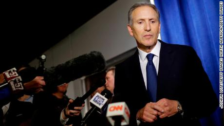 WEST LAFAYETTE, IN - FEBRUARY 07: Former Starbucks CEO Howard Schultz pauses as he talks to reporters at a news conference after speaking at Purdue University's Fowler Hall on February 7, 2019 in West Lafayette, Indiana. Schultz is considering running as an independent presidential candidate for the 2020 election.