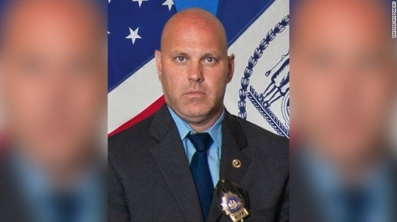 Detective Brian Simonsen was shot and killed while responding to a reported robbery at a cell phone store in Queens, New York.