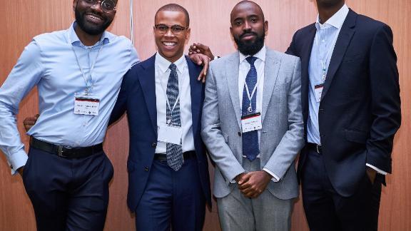 The Stears group co-founders, left to right: Abdul Abdulrahim, Preston Ideh, Michael Famoroti, and Olabode Ogunlana.