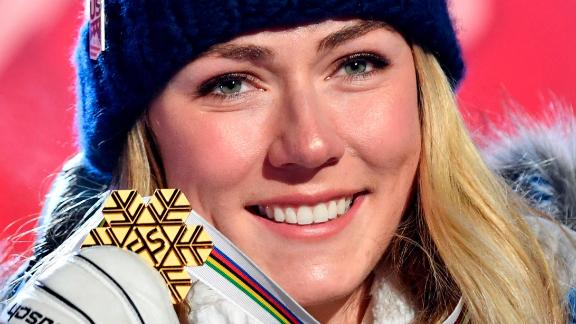 ARE, SWEDEN - FEBRUARY 5: Mikaela Shiffrin of USA wins the gold medal during the FIS World Ski Championships Women