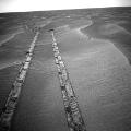 mars opportunity rover northward view of tracks