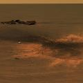mars opportunity rover heat shield impact site