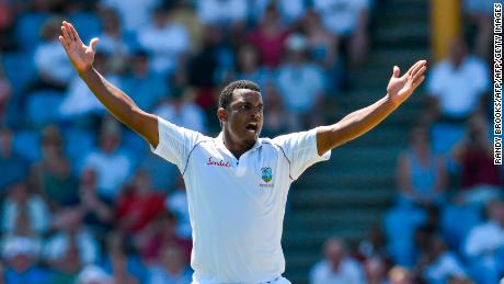 Shannon Gabriel was part of the West Indies side beaten by England in St Lucia.