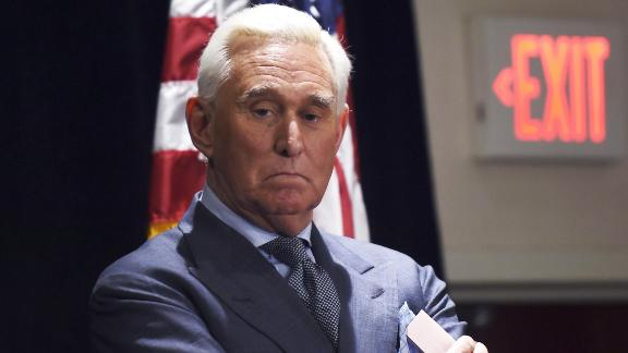 Roger Stone, ally of US President Donald Trump, pauses while he speaks to the press in Washington, DC, on January 31, 2019. - Stone pleaded not guilty on January 29 to charges stemming from the ongoing investigation into whether the US president
