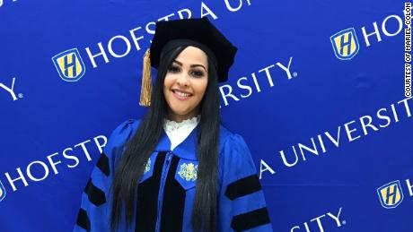 Mariel Colon at her graduation from Hofstra University.